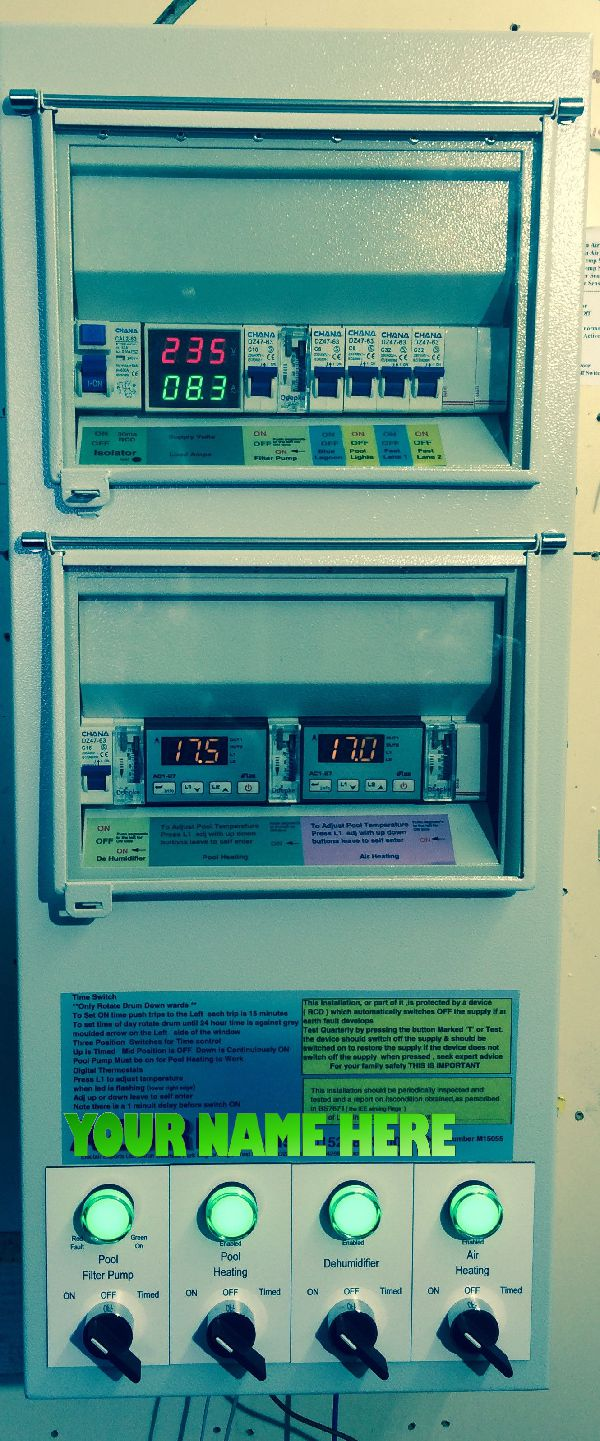 single phase dual temperature control panel